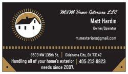 M&m Home Exteriors LLC Logo