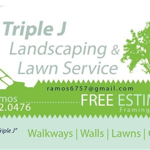 Triple J Landscaping And Concrete Logo