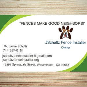 JSchultz Fence Installer   FENCES MAKE GOOD NEIGHBORS! Logo