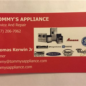 Tommys Appliance Service And Repair Logo