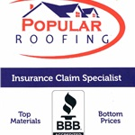 Popular Roofing Logo