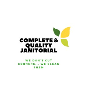 Complete And Quality Janitorial Logo