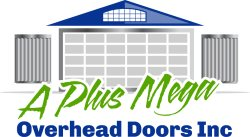A Plus Mega Overhead Doors Inc. Logo