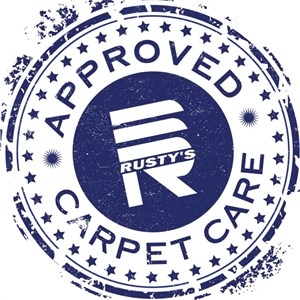 Rustys Carpet Cleaning, Approved carpet care Logo