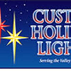 Custom Holiday Lights Cover Photo