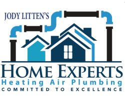 Home Experts Heating Air Plumbing Logo