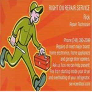 Right on Repair Service Logo