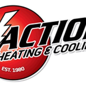 A Action Heating & Air Conditioning Logo