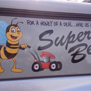 Super Bee Lawn Care Logo