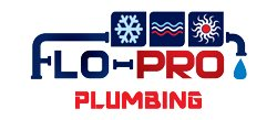 Flo-Pro Plumbing and Air Conditioning. Logo