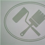 Christian Brush AND Roll Painting Logo