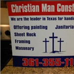 Christian Man Construction Logo