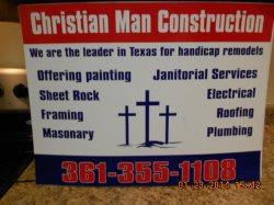 Christian Man Construction Logo