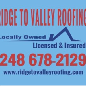 Ridge To Valley Roofing, LLC Logo