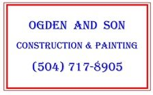 Ogden And Son - Construction , Painting and Design Logo