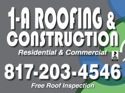 1A Roofing & Construction Logo