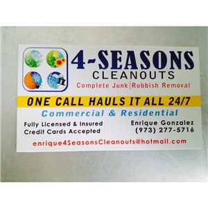 4 Seasons Cleanouts Junk&Rubbish Removal Logo