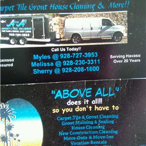 Above ALL Carpet, Tile, Grout And House Cleaning and MORE!! Logo
