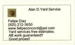 Alan D Yard Service Logo
