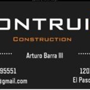Construction Contract Contractors Logo