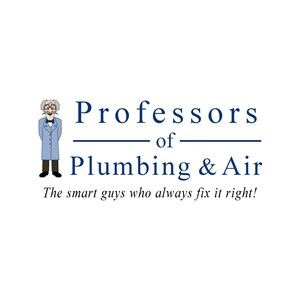 Professors of Plumbing & Air Logo