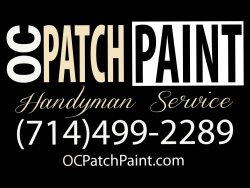 O.C. Patch&Paint Handyman Service Logo