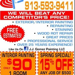 J.J. Gomez Painting, LLC Logo