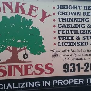 Monkey Business Tree Service Logo
