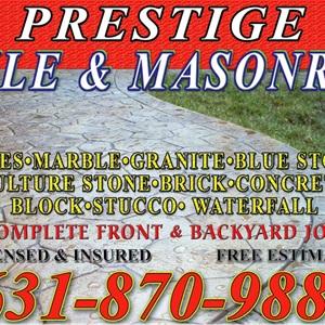 Prestige Tile and Masonry Logo