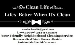 Clean Life Lifes Better When Its Clean! Logo