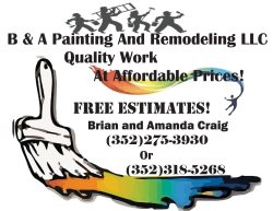 B & A Painting and Remodeling Logo