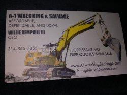 A-1 Wrecking & Salvage Logo