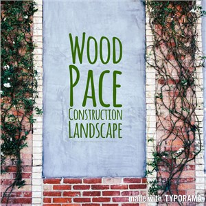 Wood Pace Construction Landscape Logo