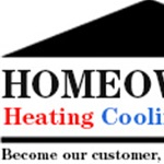 Homeowners Heating Cooling Supplies Logo