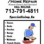 Affordable Fence/home Repairs Women Owned & operated Logo