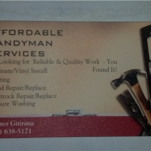 Affordable Handyman Services Cover Photo