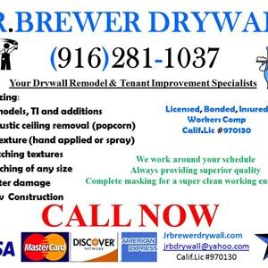 J.r.brewer Drywall Logo