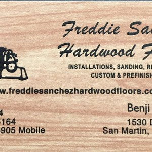 Freddie Sanchez Hardwood Flooring Cover Photo
