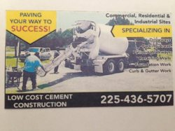 Low Cost Cement Construction LLC Logo
