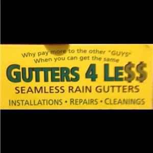Gutters 4 less Logo