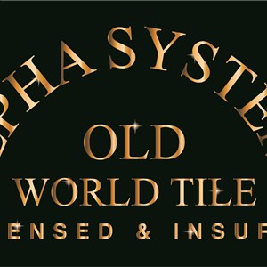 Alpha Systems old World Tile Logo
