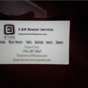 S&R Rooter Service & Plumbing Repairs Logo
