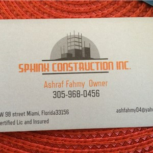 Sphinx Construction Cover Photo