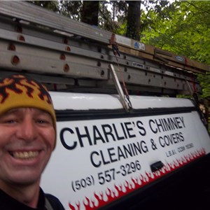 Charlies Chimney Cleaning & Covers Logo