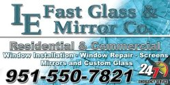 IE Fast Glass & Mirror Co. Logo