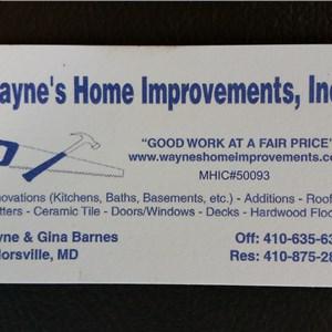 Waynes Home Improvements Logo