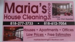 Marias Cleaning Service Logo