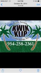 Kwik Klip Lawn Service and Landscaping inc Logo