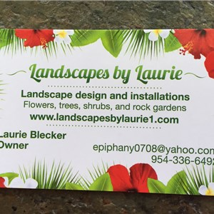 Landscapes by Laurie Inc. Logo