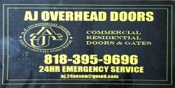 AJ Overhead Doors Logo